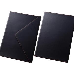 iPad Pro 12.9インチ 手帳型ケース ブラック スリーブタイプ ペンホルダ マグネットタイ...