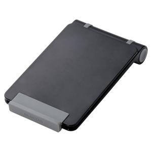 スマートフォン タブレットPC タブレット コンパクトスタンド 収納 携帯 便利 ブラック アクセサリー シンプル エレコム TB-DSCMPBK|ai-en