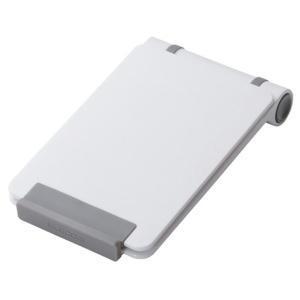 スマートフォン タブレットPC タブレット コンパクトスタンド 収納 携帯 便利 ホワイト アクセサリー シンプル エレコム TB-DSCMPWH|ai-en