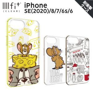 トムアンドジェリー IIIIfit iPhone SE(2020)/8/7/6s/6対応ケース イーフィット 背面 ラウンド形状 PC TPU ダラウンド ストラップホール付き ai-en