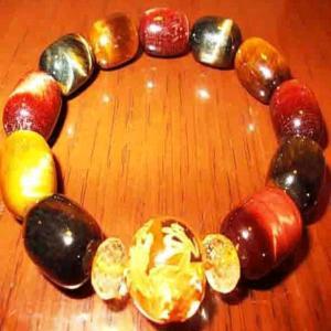 手彫り金龍 水晶 ブレスレット シトリン タイガーアイ パワーストーン 天然石 誕生石 S|ai-fujinomiya