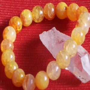 オレンジ ドラゴン アゲート ブレスレット パワーストーン 天然石|ai-fujinomiya