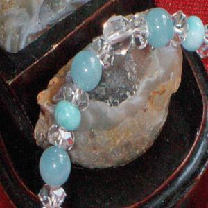 アクアマリン ブレスレット ラリマー 水晶 パワーストーン 天然石 誕生石|ai-fujinomiya