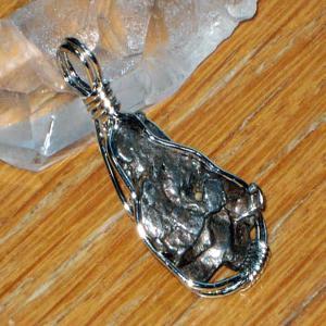 メテオライト 隕石 ペンダント ネックレス パワーストーン 天然石2|ai-fujinomiya