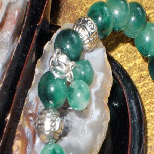 チベット翡翠 ブレスレット  パワーストーン  天然石 誕生石|ai-fujinomiya