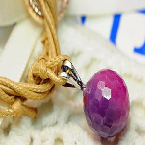 パープル サファイア ペンダント ネックレス パワーストーン 天然石 誕生石|ai-fujinomiya