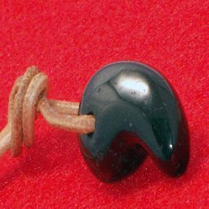 ブラック トルマリン 勾玉 ネックレス ペンダント パワーストーン 天然石 誕生石|ai-fujinomiya