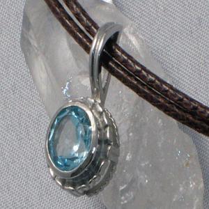 ブルー トパーズ ネックレス ペンダント パワーストーン 天然石 誕生石|ai-fujinomiya