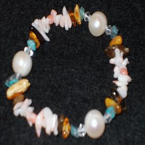 サンゴ ブレスレット 珊瑚 アンバー 琥珀 ターコイズ トルコ石 パール 真珠 パワーストーン 天然石 誕生石|ai-fujinomiya