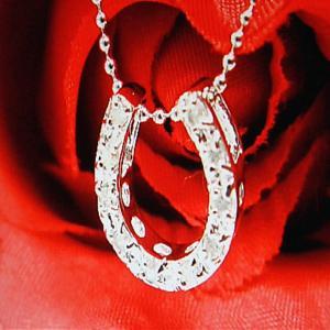 ダイヤモンド ペンダント ネックレス パワーストーン 天然石 誕生石 シルバー925 馬蹄|ai-fujinomiya