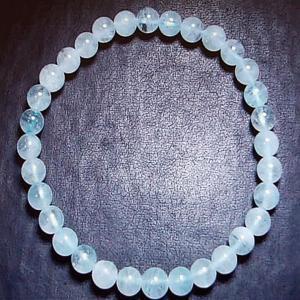 アクアマリン ブレスレット パワーストーン 天然石 誕生石6.0mm珠|ai-fujinomiya