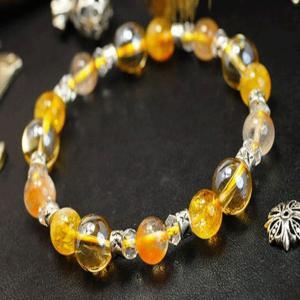 シトリン ブレスレット 水晶 オレンジ ファントム 水晶 パワーストーン 天然石 誕生石|ai-fujinomiya