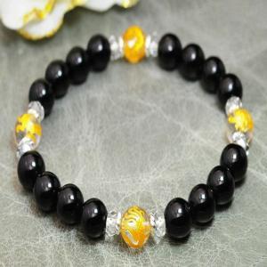 テクタイト 隕石 ブレスレット 水晶 パワーストーン 天然石 誕生石 ai-fujinomiya