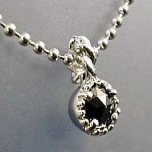 ブラック ダイヤモンド ペンダント ネックレス パワーストーン 天然石 誕生石 シルバー925|ai-fujinomiya