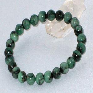 エメラルド ブレスレット パワーストーン 天然石 誕生石7.7mm珠|ai-fujinomiya