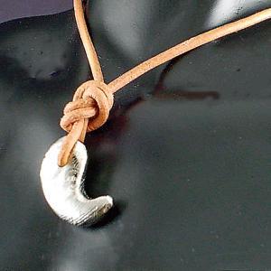 ギベオン 隕石 勾玉 シルバー ペンダント ネックレス パワーストーン 天然石|ai-fujinomiya