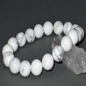 ホワイト ターコイズ  ブレスレット トルコ石 パワーストーン 天然石 誕生石|ai-fujinomiya