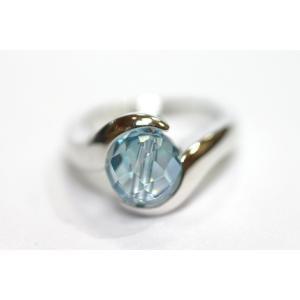 付け替えリング Silver925 オーラ水晶|ai-inori