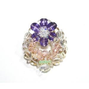 ブローチ 水晶3|ai-inori
