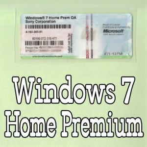 Windows7 Home Premium 32bit/64bit プロダクトシール