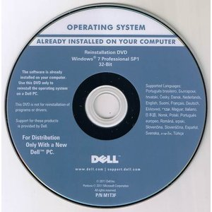 DELL Reinstallation DVD Windows 7 Professional sp1 32-Bit 中古|ai-mark