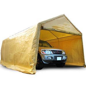 車庫テント ガレージテント 3×6m ガレージテント カーポート 大型 車 駐車 スチール製 頑丈 仮設倉庫###車庫・倉庫・テント◇###|ai-mshop