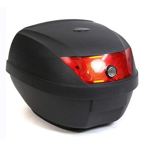 リアボックス トップケース バイクボックス バイクケース 収納 ブラック 黒 28L 簡単装着 鍵付...