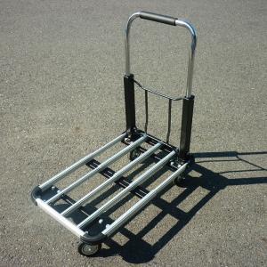 台車 アルミ キャリーカート 折りたたみ ハンディカート 折り畳み 運搬台車 作業台車 カート 手押し台車 耐荷量 150kg###アルミ台車AYB150C###|ai-mshop