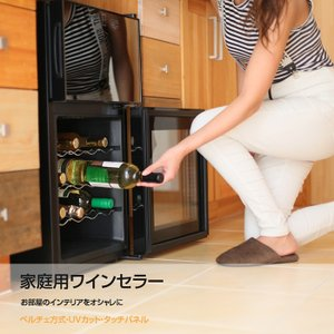 ワインセラー 24本収納 2ドア ワインクーラー 家庭用 約68L 上下別温度設定 ペルチェ冷却方式...