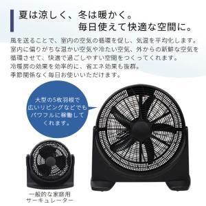 羽根径45cm 大型ファン 扇風機 送風機 大型 BOX扇 サーキュレーター 循環用 工業扇 熱中症対策###扇風機CRBF-20B###|ai-mshop|03
