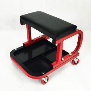 シートクリーパー ローラーシート 作業椅子 メカニックシート 作業チェア 工具箱 工具トレー付 座り作業 移動 腰掛 ###チェアXCD-R/B### ai-mshop