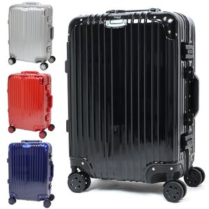 スーツケース Sサイズ アルミフレーム キャリーケース 軽量 TSAロック 35L 1〜3日 オシャレ 丈夫 トラベルケース ###ケースDH101-S###|ai-mshop