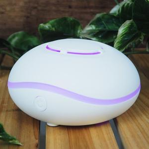 アロマディフューザー 超音波式 アロマオイル 除菌 抗菌 卓上 LEDライト イルミネーション 間接照明 加湿器 アロマポッド アロマランプ ###アロマMINI-CA7###|一撃SHOP