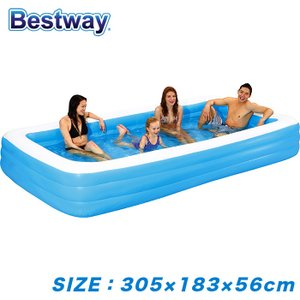 プール 3M 3気室 ビニールプール 家庭用 ファミリープール 大型 ###エアープール184NPF☆### ai-mshop