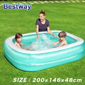 プール ビニールプール ファミリープール 大型 185×135cm 2気室 クッション性 水あそび レジャープール 家庭用プール ###プール0291-1NPF###|ai-mshop