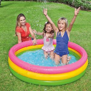 ビニールプール 丸型プール 家庭用 プール エアープール 円形 幼児プール 子供用 キッズ 130cm ベビープール 水遊び ###プール017223NPF###|ai-mshop
