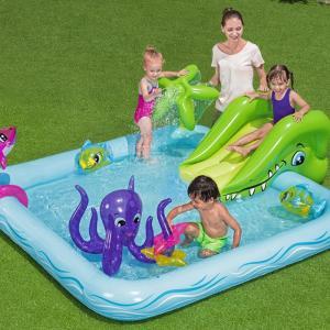 滑り台付き プレイセンタープール 大型 ジャンボ プール 家庭用 ビニールプール 子供用 水遊び イ...