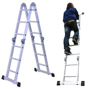 梯子 アルミ はしご 3way 3.4m はしご兼用脚立 ハシゴ 脚立 多機能アルミはしご スーパーラダー アルミはしご ###多機能はしごM0112D###|ai-mshop