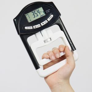 デジタル ハンド グリップ メーター 握力計 測定 LCD 高齢者 リハビリ 健康診断 トレーニング 単位変換 記録 スポーツ ###握力計HDM03黒###