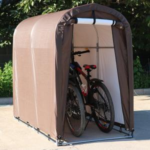 サイクルハウス スリムタイプ 自転車置き場 サイクルポート 駐輪場 雨よけ 雨避け 収納庫 盗難対策 ###テントQH-CP-001###|ai-mshop