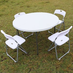 アウトドアテーブル 折りたたみ 頑丈 円形 Φ120cm レジャーテーブル 丸テーブル 折り畳み式 ...