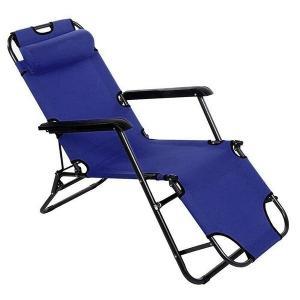 リクライニングチェア 全長178cm アウトドア 椅子 折りたたみ ヘッドレスト 肘掛け付き リクラ...