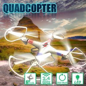 ドローン 2.4GHz 6軸ジャイロ LED クアッドコプター ラジコン マルチコプター 360° ラジコンヘリ ###ドローン855-A7白###