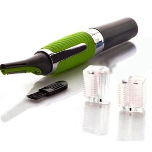 男性用 マイクロ電動シェーバー Micro Shaver LEDライト付 メンズトリマー アタッチメント2点付 電動 鼻毛 耳毛 眉毛 もみあげ ###シェーバー9800▼###