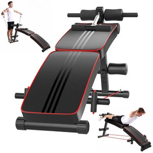 シットアップベンチ トレーニングマシン 本格的 ダイエット 腹筋 背筋 折り畳み式 ###ベンチAND-9103###|ai-mshop
