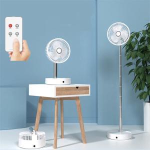 扇風機 サーキュレーター DCモーター USB充電 コードレス リモコン付き 折りたたみ アロマ対応 LEDライト 風量3段階 伸縮式 7200mAh ###ファンN97-###|一撃SHOP