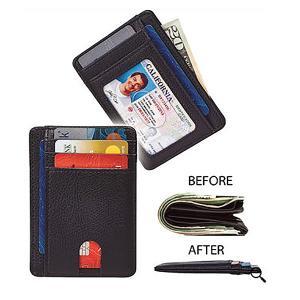 カードケース メンズ セキュリティウォレット 財布 小銭入れ お札 レザー 薄型 クレジットカード ...