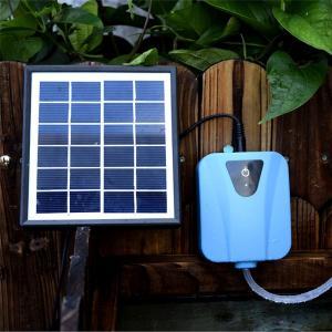 ソーラー充電式 エアポンプ 太陽光充電 電源不要 USB充電 ポータブル エアーポンプ 庭池 釣り ...