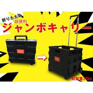 折りたたみ コンテナキャリー キャリーカート コンパクト 収納 耐荷重25kg エコバック###折畳みカートXHGWC黒###|ai-mshop