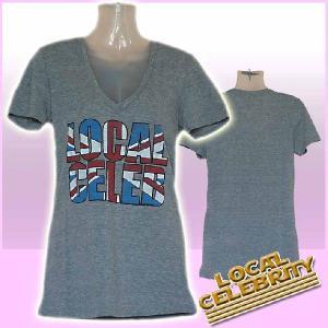 ローカルセレブリティ Tシャツ レディース 半袖 UK/グレイ LOCAL CELEBRITY W205-LOC2202 Heather Gray 激安 1004
